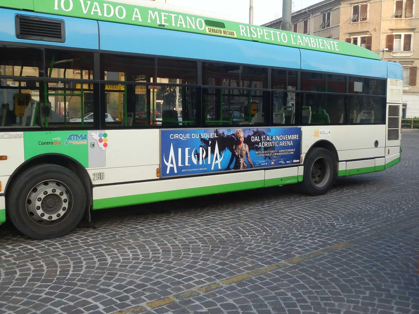 Pubblicita Autobus Dinamica Classica