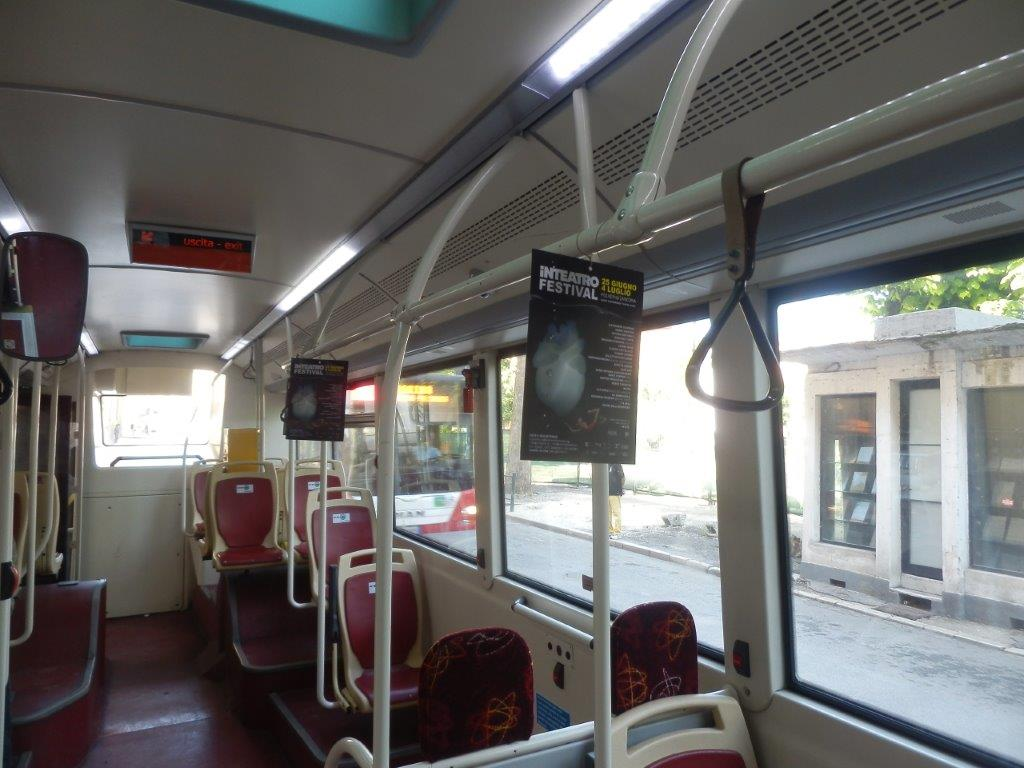 cartello volante 17x25 interno bus