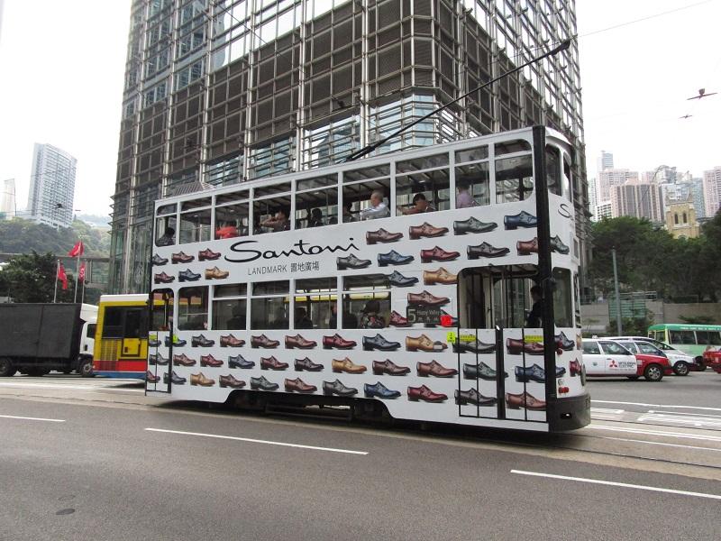 tram decorato hong kong
