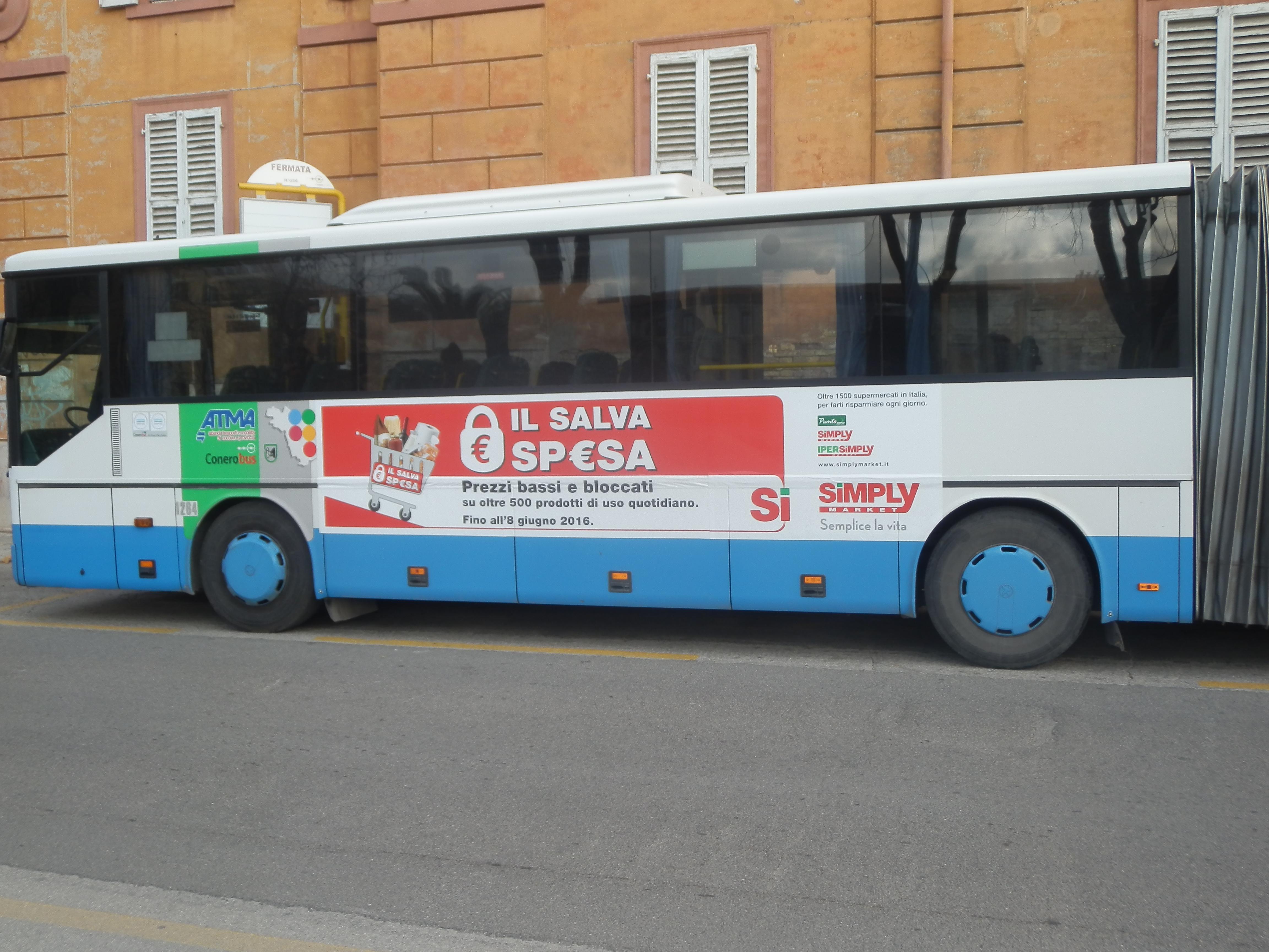 Ipersimply pubblicit ad ancona per salvaspesa lpe for Arredo urbano ancona
