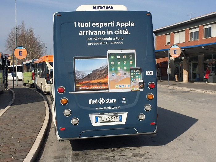 pubblicità autobus fano