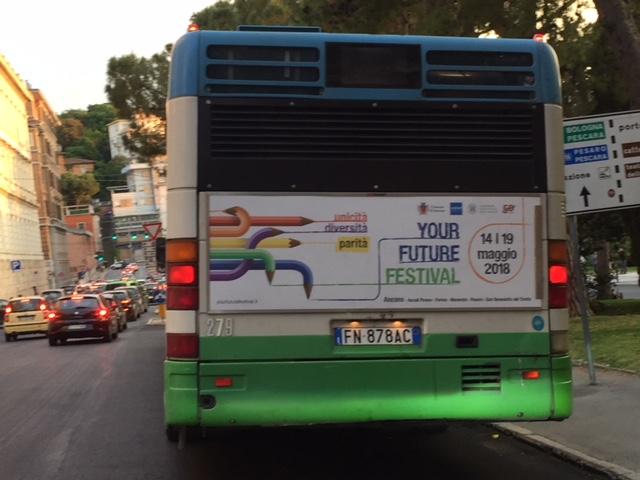 pubblicità negli autobus nella provincia di ancona