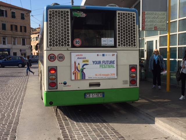 cartellonistica negli autobus di ancona