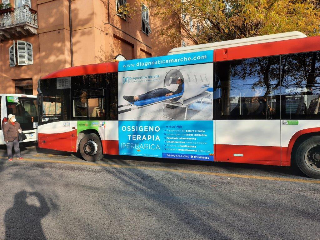 cartelloni negli autobus di ancona